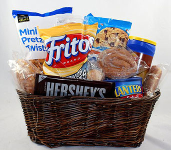 Junk Food Basket in Raleigh NC, North Raleigh Florist