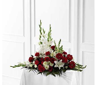 FTD Crimson & White Arrangement in Ajax ON, Reed's Florist Ltd