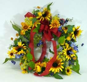 Tuscan Sunflower Wreath in Perrysburg & Toledo OH - Ann Arbor MI OH, Ken's Flower Shops