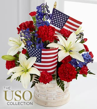 American Glory Basket in Camp Hill and Harrisburg PA, Pealer's Flowers