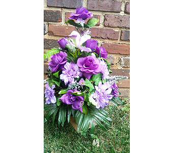 Fall Cemetery Vase in Statesville NC, Brookdale Florist, LLC