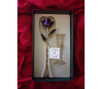 Gold Rose in Purple in Greensboro NC, Send Your Love Florist & Gifts