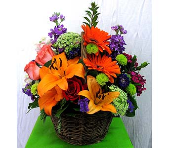 Bright N' Blooms Basket in San Diego CA, The Floral Gallery