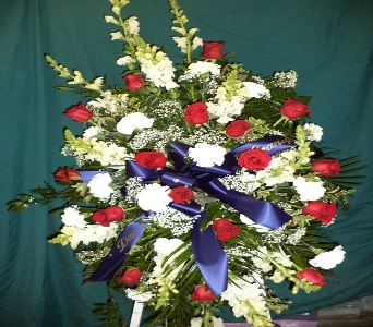 Red, White and Blue Memorial in Milford OH, Jay's Florist