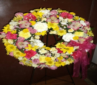 Springy Wreath  in Milford OH, Jay's Florist
