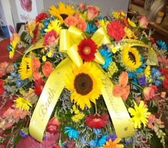 Bright Casket Spray in Milford OH, Jay's Florist