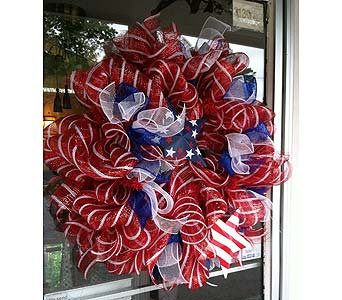 Deco Mesh Wreath in Creedmoor NC, Gil-Man Florist Inc.