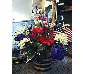 Patriotic Silk Arrangement in Creedmoor NC, Gil-Man Florist Inc.