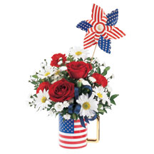 patriotic mug by Expressions in Rochester NY, Expressions Flowers & Gifts