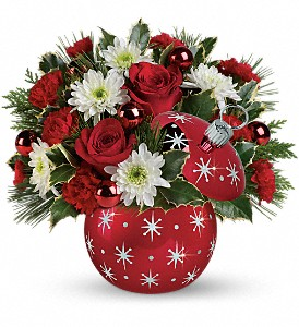 Celebrations by Radko Starry Ornament Bouquet in Dawson Creek BC, Enchanted Florist