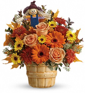 Teleflora's Harvest Cheer Bouquet in The Woodlands TX, Rainforest Flowers