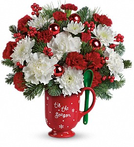 Teleflora's Merry Mug Bouquet in Abington MA, The Hutcheon's Flower Co, Inc.