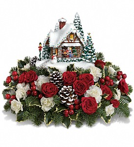 Thomas Kinkade's A Kiss For Santa by Teleflora in Bakersfield CA, White Oaks Florist