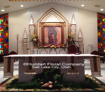 Church designs by Huddart Floral Company in Salt Lake City UT, Huddart Floral