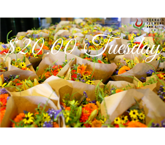 $20.00 Tuesday in Indianapolis IN, Steve's Flowers and Gifts