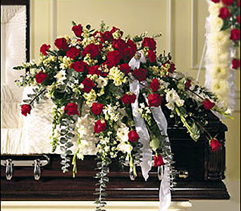 Elegant & Fragrant Casket Spray in Moline IL, K'nees Florists