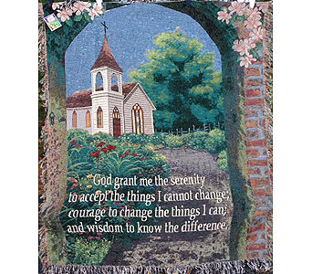 Serenity Prayer in Brownsburg IN, Queen Anne's Lace Flowers & Gifts