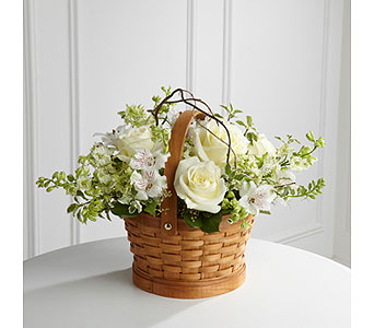 The FTD� Peaceful Garden� Basket  in Woburn MA, Malvy's Flower & Gifts