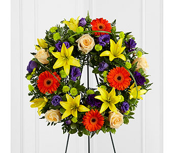 The FTD� Radiant Remembrance� Wreath  in Woburn MA, Malvy's Flower & Gifts