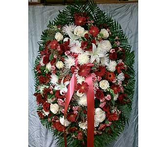 Red & White Spray in Maspeth NY, Grand Florist