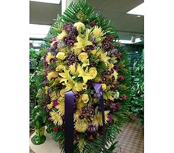 Yellow and Purple in Maspeth NY, Grand Florist