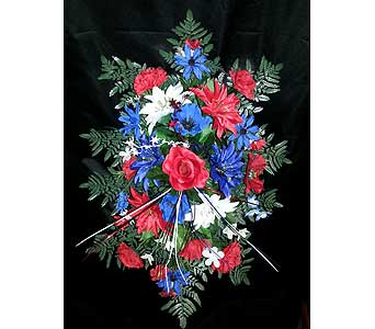 Silk Monument Topper For Military Veteran in Statesville NC, Brookdale Florist, LLC