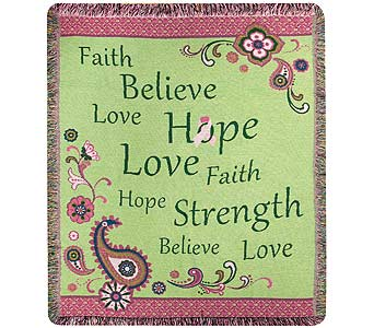 Faith Hope Believe Throw in Tullahoma TN, Tullahoma House Of Flowers