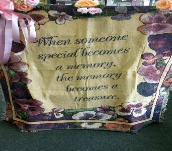 SOMEONE SPECIAL TAPESTRY THROW in Pittsburgh PA, Frankstown Gardens