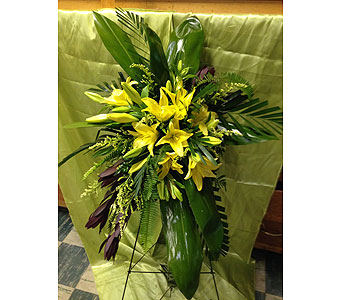 Safari Sunset with Yellow Lilies in Chattanooga TN, Chattanooga Florist 877-698-3303