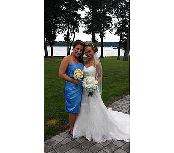 Bride and Maid of Honor in Middletown DE, Forget Me Not Florist & Flower Preservation