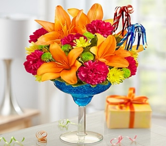 Blue Hawaiian for Birthday!  in Corpus Christi TX, Always In Bloom Florist Gifts