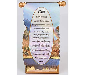 God's Promise Scroll in Indianapolis IN, Gillespie Florists