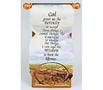 Serenity Prayer Scroll in Indianapolis IN, Gillespie Florists