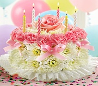 Birthday Flower Cake� Pastel in Joliet IL, Designs By Diedrich II