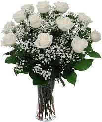 12 White Roses in Timmins ON, Timmins Flower Shop Inc.