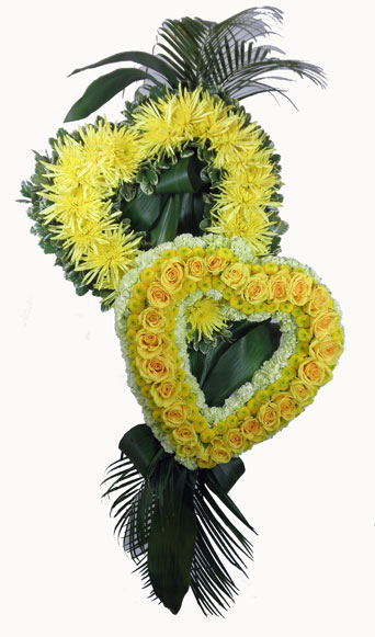 Sunshine Sentiments Together Forever Hearts in Omaha NE, Piccolo's Florist