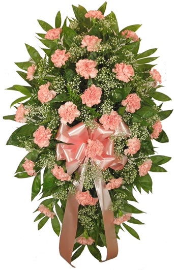 Timeless Traditions Pink Standing Spray in Raleigh NC, Fallon's Flowers