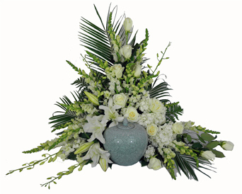 Simple Devotion Deluxe Cremation Setting in Omaha NE, Piccolo's Florist