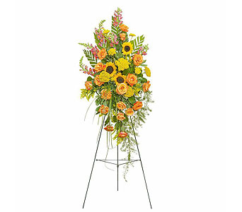 Heaven's Sunset Standing Spray in Costa Mesa CA, Artistic Florists