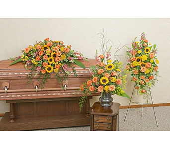 Heaven's Sunset Trio in Stamford CT, Stamford Florist