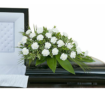 Simple Love Casket Spray in West Des Moines IA, Nielsen Flower Shop Inc.
