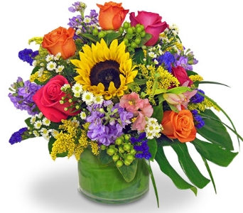 Color Their Day Bouquet by Nature Nook in Cleves OH, Nature Nook Florist & Wine Shop