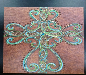 large brown cross canvas in lubbock tx house of flowers - Home Decor Lubbock Tx