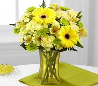 Lemon Groove Bouquet in Noblesville IN, Adrienes Flowers & Gifts