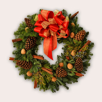 Winter Forest Wreath in Dallas TX, Dr Delphinium Designs & Events
