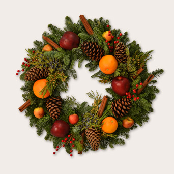 Mulled Cider Wreath in Dallas TX, Dr Delphinium Designs & Events