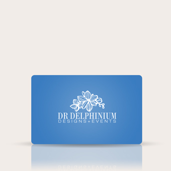 Dr Delphinium Gift Card in Dallas TX, Dr Delphinium Designs & Events