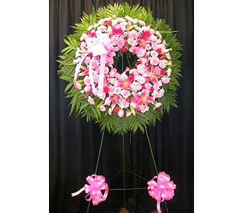 New York Large Wreath in Chicagoland IL, Amling's Flowerland