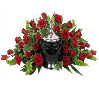 Signature Collection 30 Rose Cremation Setting in Chicagoland IL, Amling's Flowerland