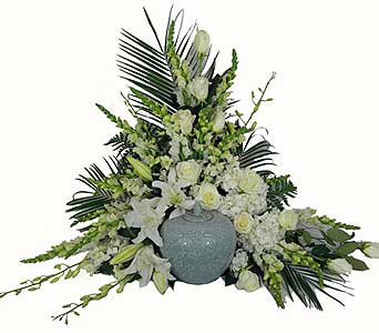 Simple Devotion Deluxe Cremation Setting in Chicagoland IL, Amling's Flowerland